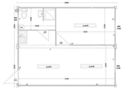 Plan casa 2 containere